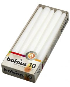 Bolsius, Bolsius Table Candle Box 10 Pcs 245/24 White