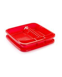Plastic Forte, Dish Drainer - Red