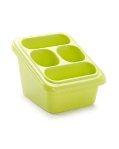 Plastic Forte, Cutlery Drainer With Tray - Green