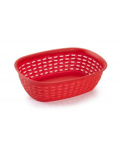 Plastic Forte, Bread Basket - Red