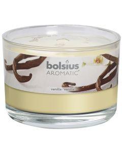 Bolsius, Bolsius Flat Glass 63/90 Vanilla