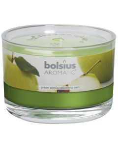Bolsius, Bolsius Flat Glass 63/90 Green Apple