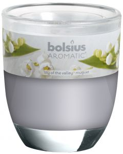 Bolsius, Bolsius Glass Oval 80/70 Lily Of The Valley