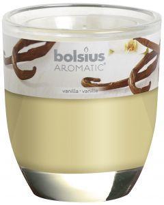 Bolsius, Bolsius Glass Oval 80/70 Vanilla