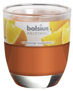 Bolsius, Bolsius Glass Oval 80/70 Juicy Orange