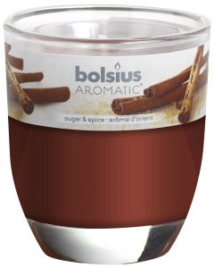 Bolsius, Bolsius Glass Oval 80/70 Sugar & Spice