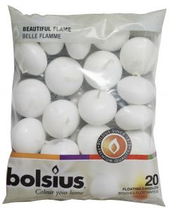 Bolsius, Bolsius Floating Candle Bag 20 Pcs White