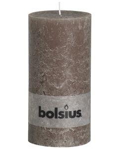 Bolsius, Bolsius Xxl Rustic Pillar Candle 200/100 Taupe