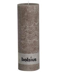 Bolsius, Bolsius Xxl Rustic Pillar Candle 300/100 Taupe