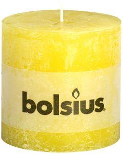 Bolsius, Bolsius Xxl Rustic Pillar Candle 100/100 Sunshine