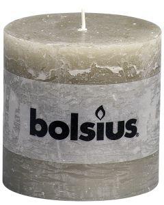 Bolsius, Bolsius Xxl Rustic Pillar Candle 100/100 Slate