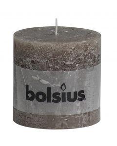 Bolsius, Bolsius Xxl Rustic Pillar Candle 100/100 Taupe