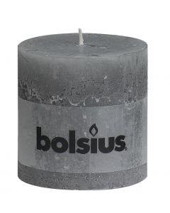 Bolsius, Bolsius Xxl Rustic Pillar Candle 100/100 Light Gre