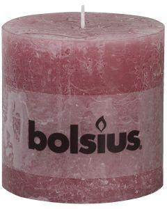 Bolsius, Bolsius Xxl Rustic Pillar Candle 100/100 Old Pink