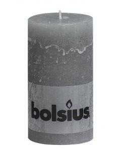 Bolsius, Bolsius Rustic Pillar Candle 130/68 Light Grey