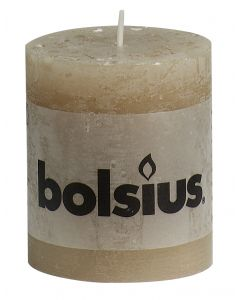 Bolsius, Bolsius Rustic Pillar Candle 80/68 Pastel Beige