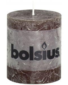 Bolsius, Bolsius Rustic Pillar Candle 80/68 Chocolate Brown