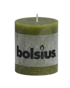 Bolsius, Bolsius Rustic Pillar Candle 80/68 Olive Green