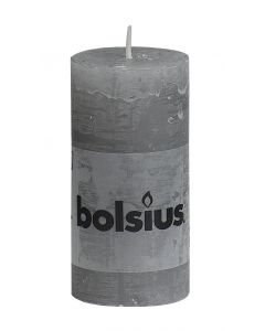 Bolsius, Bolsius Rustic Pillar Candle 100/50 Light Grey