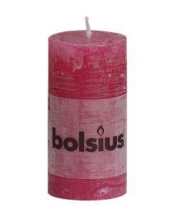 Bolsius, Bolsius Rustic Pillar Candle 100/50 Fuchsia