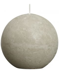 Bolsius, Bolsius Rustic Ball Candle 80 Mm Slate
