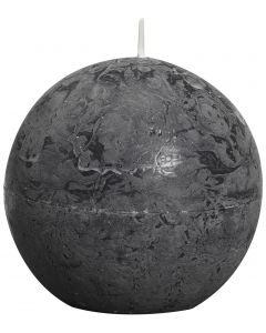 Bolsius, Bolsius Rustic Ball Candle 80 Mm Anthracite