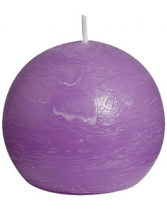 Bolsius, Bolsius Rustic Ball Candle 80 Mm Lilac