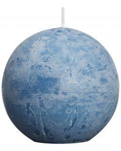 Bolsius, Bolsius Rustic Ball Candle 80 Mm Sea Blue