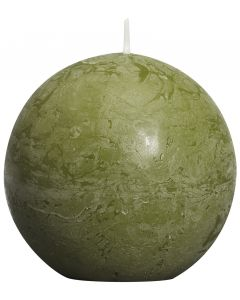 Bolsius, Bolsius Rustic Ball Candle 80 Mm Olive Green
