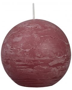 Bolsius, Bolsius Rustic Ball Candle 80 Mm Old Pink