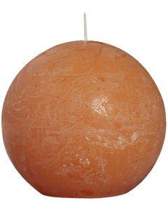 Bolsius, Bolsius Rustic Ball Candle 100 Mm Orange