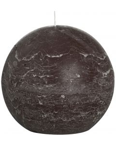 Bolsius, Bolsius Rustic Ball Candle 145 Mm Chocolate Brown