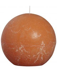 Bolsius, Bolsius Rustic Ball Candle 145 Mm Orange