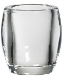 Bolsius, Bolsius Glass Holder Oval 77/72 Transparent
