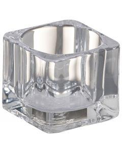 Bolsius, Bolsius Tealight Glass Holder Square 40/55 Transpa