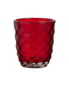 Bolsius, Bolsius Crystal Glass Holder 76/70 Red