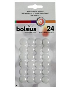 Bolsius, Bolsius Wax Adhesive Plate 24 Pcs White